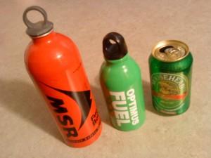 fuel bottle size comparison