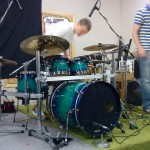 Chris plays ddrums