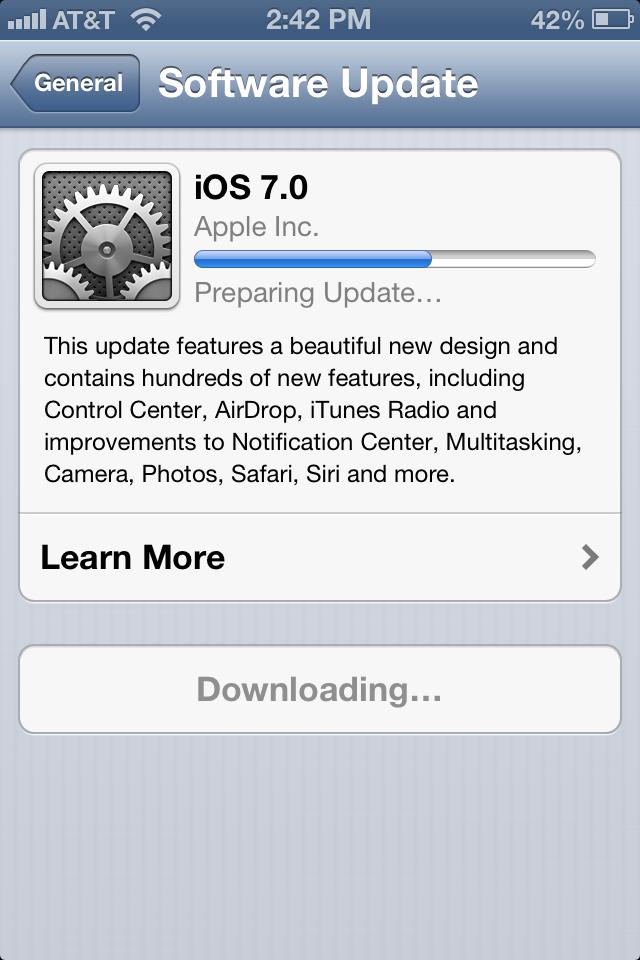 Preparing Update...