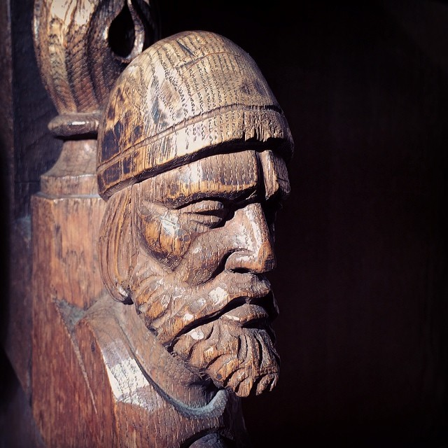 Face Carving on Chair (St. Lorenz church, Nürnberg)