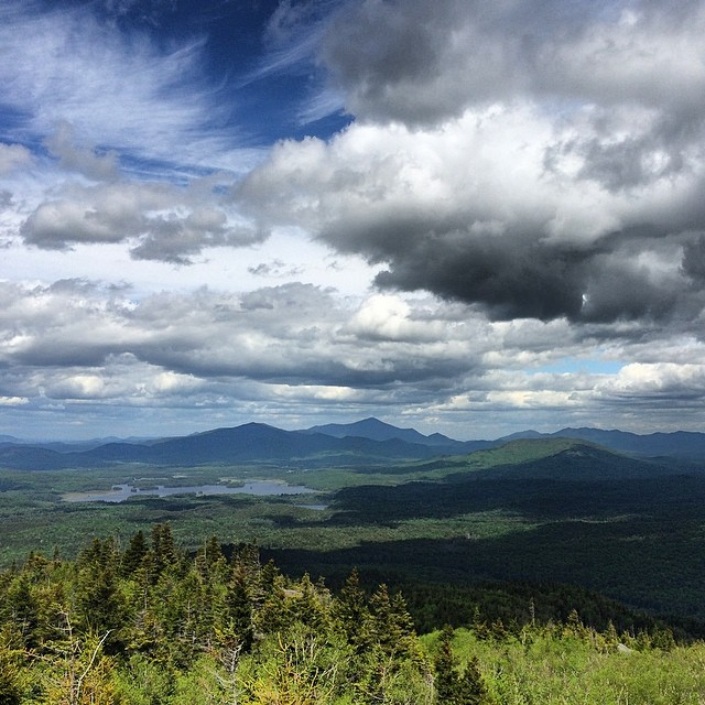 The High Peaks, as seen from Ampersand Mountain