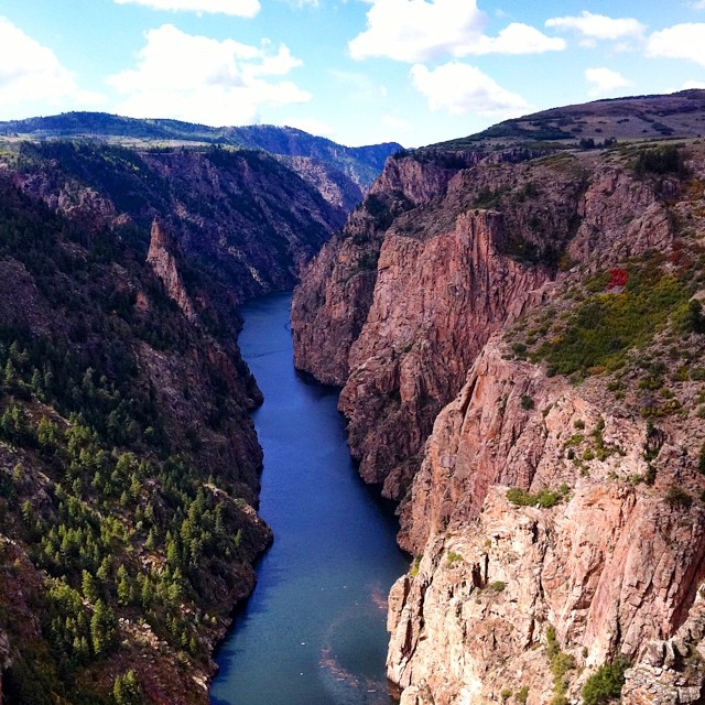 View of the Gunnison River at the Entrance to the Black Canyon