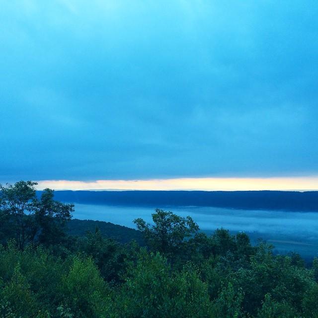 Sunrise from Stone Mountain Hawk Watch Platform