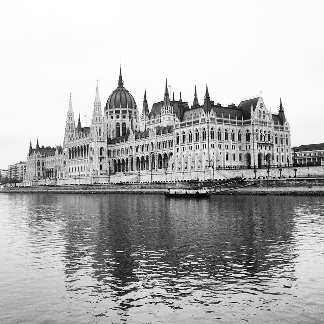 View of the Hungarian Parliament Building from the Danube River