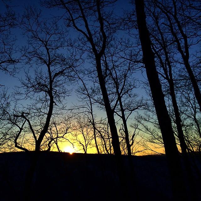 Sundown at Pine Creek Gorge