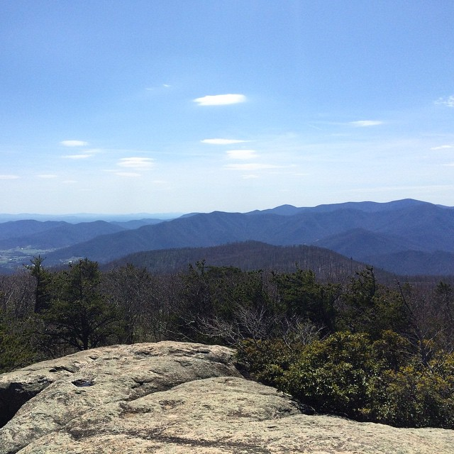 Facing South from Old Rag Mountain