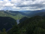 Lower Ausable Lake; facing North from the summit of Mount Colvin