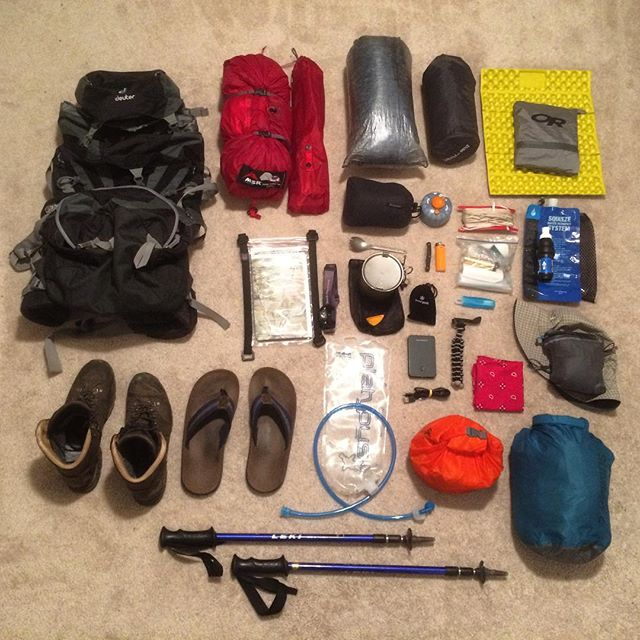 Black Forest Trail, Gear Inventory