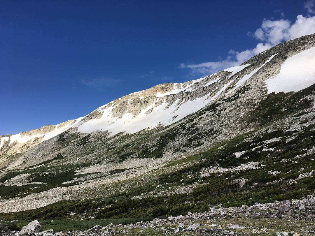 Ascending Medicine Bow Peak