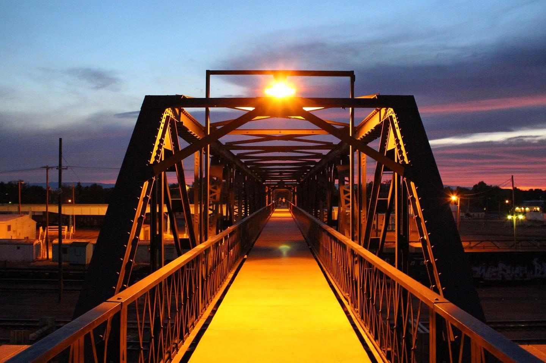 Pedestrian Bridge, Laramie Rail Yard
