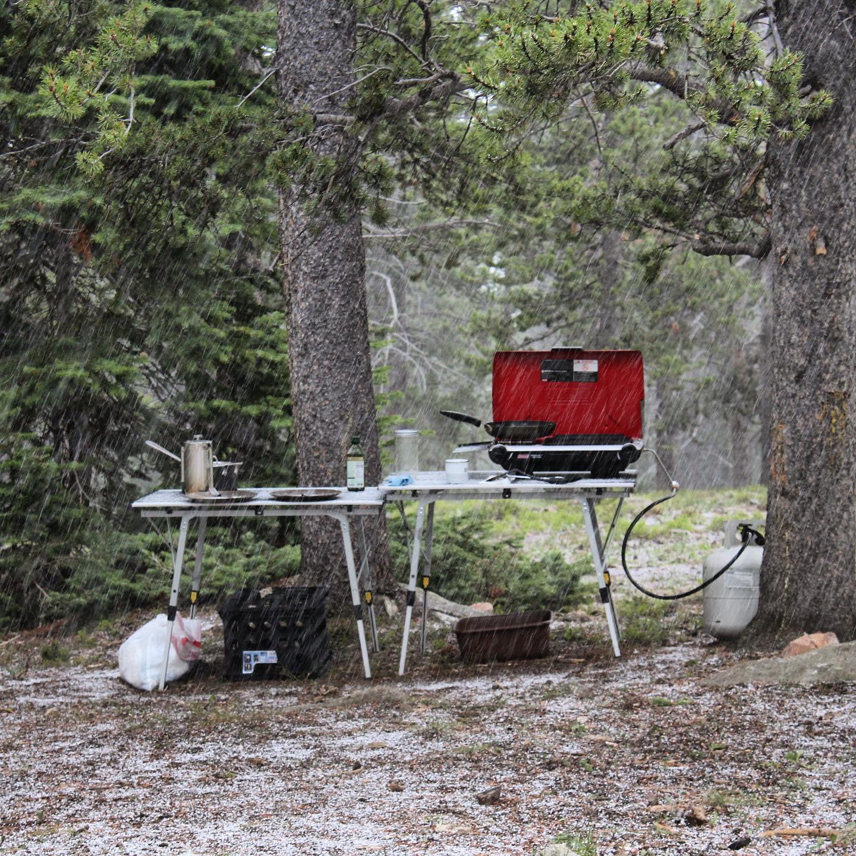 Camp in the Bighorns